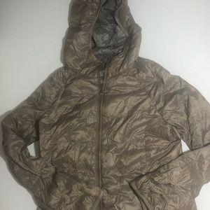 Uniqlo women's ultralight down jacket brown